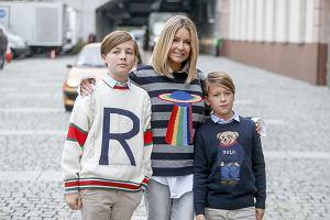 Małgorzata Rozenek na Wielkim Meczu TVN kontra WOŚP z synami