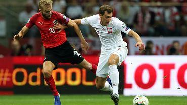 Krystian Bielik w meczu Polska - Austria