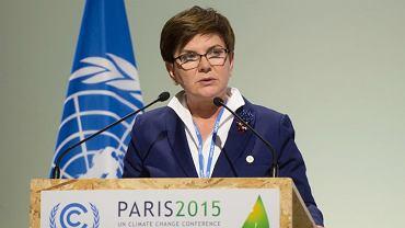 Premier Beata Szydło na szczycie COP21 w Paryżu