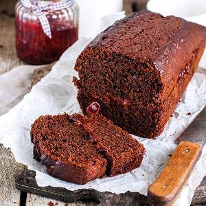 Ciasto czekoladowe z konfiturą malinową