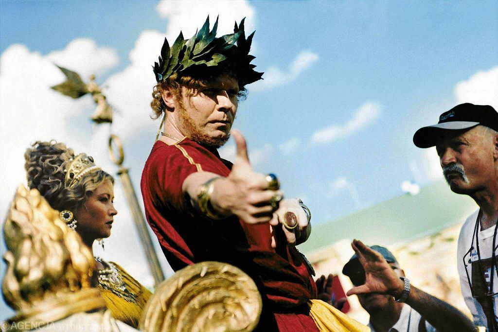 Plan filmu ''Quo Vadis'' na podstawie książki Henryka Sienkiewicza. Na zdjęciu Michał Bajor jako Neron. Lipiec 2000 r.