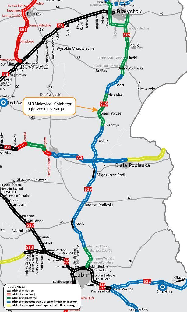 Trasa S19 Malewice - Chlebczyn