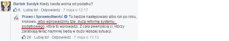 Jarosław Kaczyński o kwocie wolnej od podatku