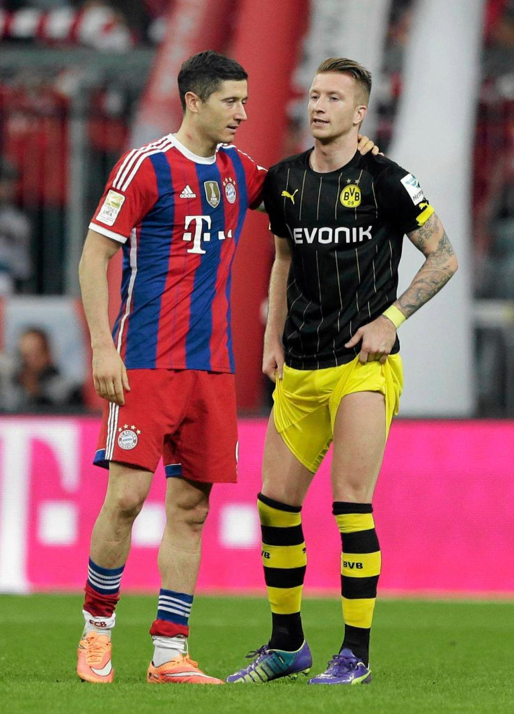 Robert Lewandowski i Marco Reus. Bayern - Borussia. Relacja