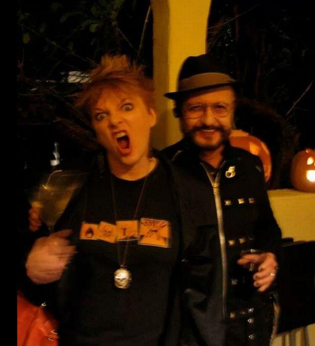 Alison Arngrim z mężem na Halloween