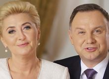 Czułe gesty Andrzeja i Agaty Dudy. Prezydent objął żonę