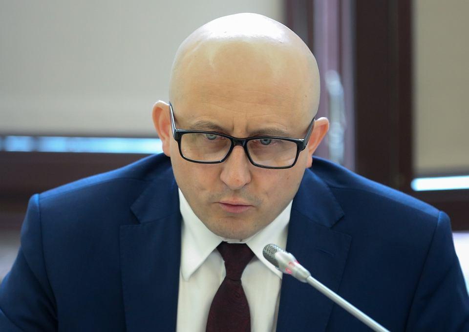 Wiceprzewodniczący KRS Dariusz Drajewicz. Sejm, Warszawa, 5 czerwca 2018