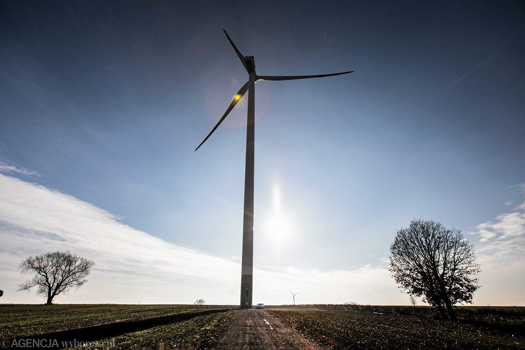 Farma wiatrowa, zdjęcie ilustracyjne