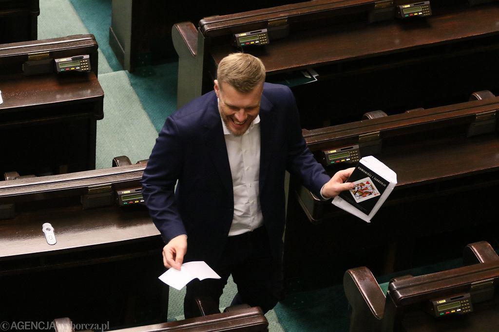 Adrian Zandberg w Sejmie