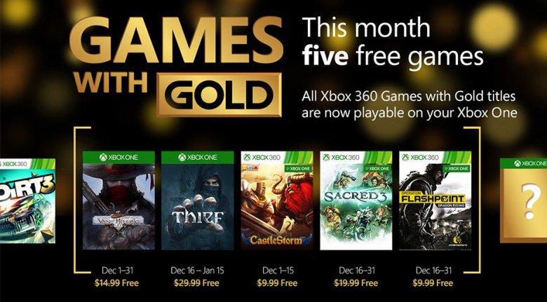 Games with Gold: Grudzień 2015