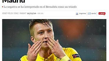 """Screen z serwisu dziennika """"Marca"""""""