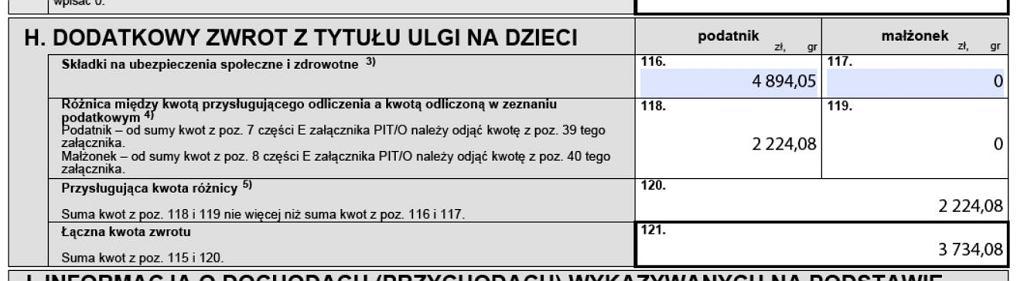 fragment zeznania PIT-37 w usłudze e-Deklaracje