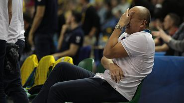 Kielce, 2 marca 2020 roku. Trener Tałant Dujszebajew podczas meczu piłki ręcznej: Vive Kielce - Telekom Veszprem HC