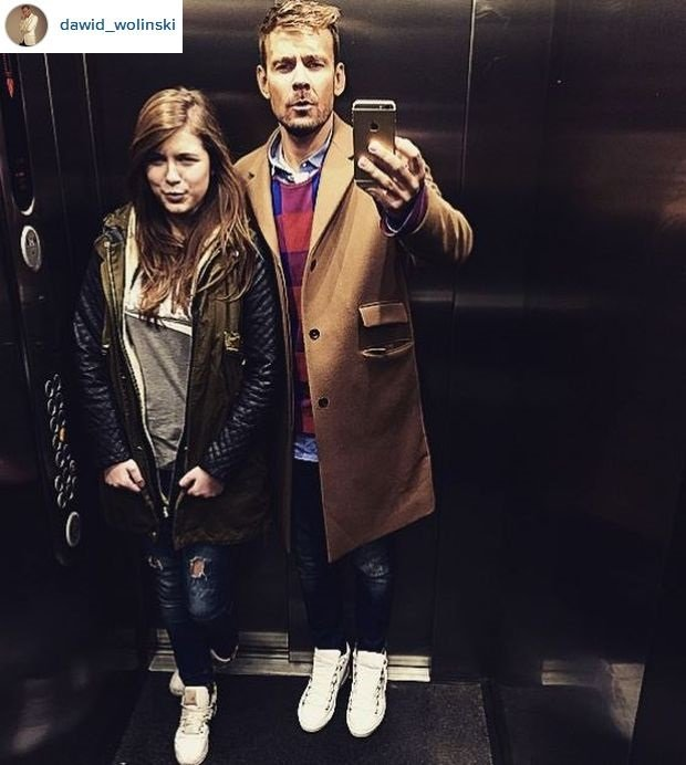 Dawid Woliński z córką Oliwią