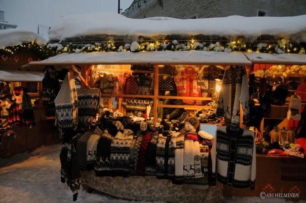 Świąteczny jarmark w Tallinnie