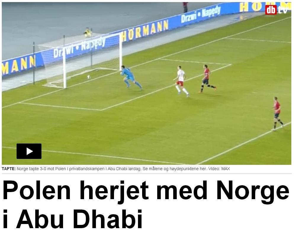 Screen z serwisu dziennika 'Dagbladet'