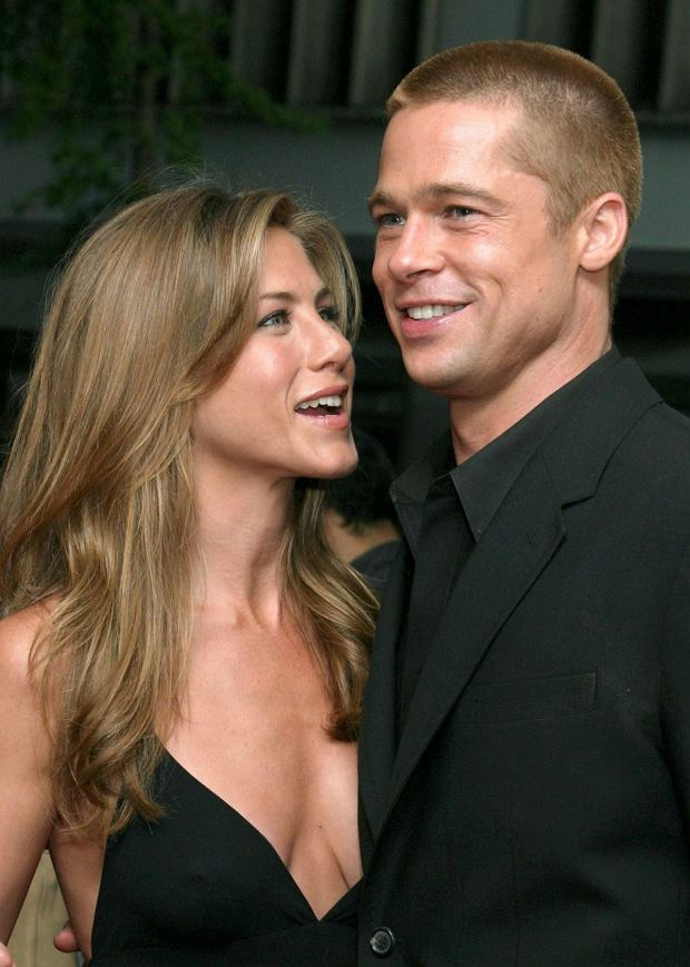 Jennifer Aniston i Brad Pitt w 2004 roku