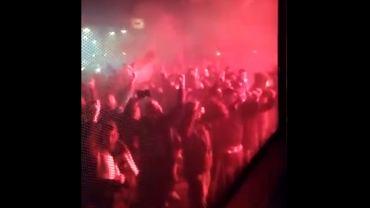 Kibice Lazio świętują wygraną w derbach