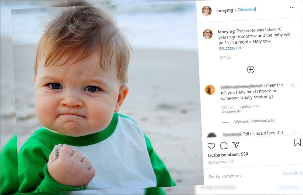 Dziecko z mema to 'Succes Kid'
