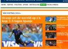 """Mundial 2014. Holenderska prasa po meczu Hiszpania - Holandia: """"Hiszpanie dostali lanie"""", """"Pomarańczowa rzeźnia"""""""