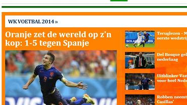 Holenderskie media po meczu Holandii z Hiszpanią