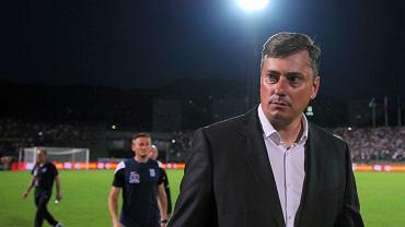 FK Sarajevo - Lech Poznań 0:2. Trener Maciej Skorża
