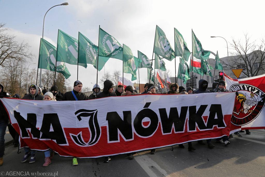 Marsz narodowców w Hajnówce, 2018 r.