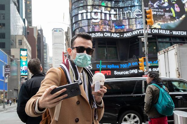 Selfie na Times Square w Nowym Jorku.