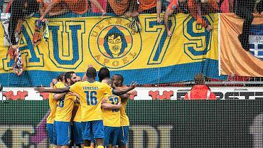 Piłkarze APOEL-u cieszą się z gola