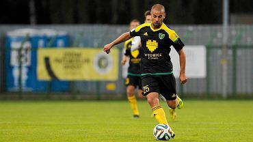 Filip Burkhardt w meczu GKS - Wigry Suwałki 2:0