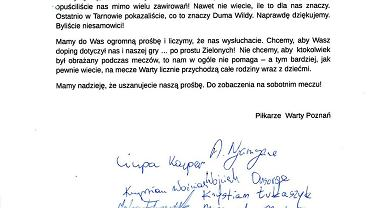 list piłkarzy Warty Poznań