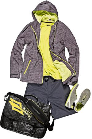 Moda męska w góry i na miasto, góry, moda męska, KURTKA  Quicksilver  T-SHIRT  Helly Hansen  SPODENKI  Merrell   BUTY  Ecco  TORBA  Naish