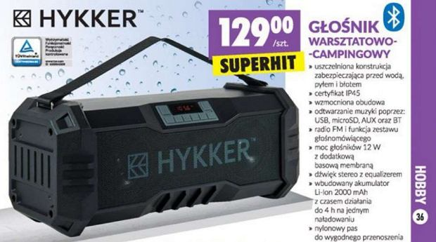 Głośnik Bluetooth Hykker Craft w Biedronce