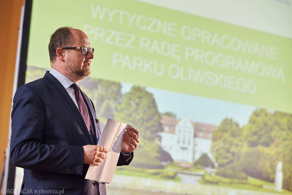 Ostatnie, otwarte spotkanie Rady Programowej Parku Oliwskiego. Paweł Adamowicz, prezydent Gdańska