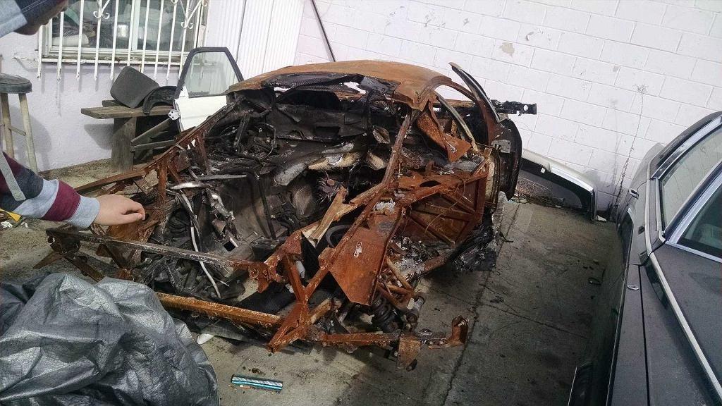 Lamborghini Murcielago po pożarze