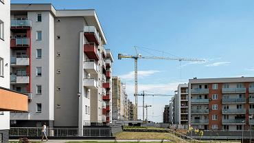 Budowa bloków na osiedlu Słoneczny Stok (Spółdzielnia Mieszkaniowa Projektant). Rzeszów, 28 czerwca 2017