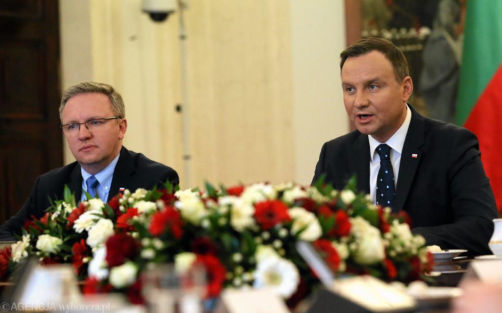Krzysztof Szczerski i Andrzej Duda