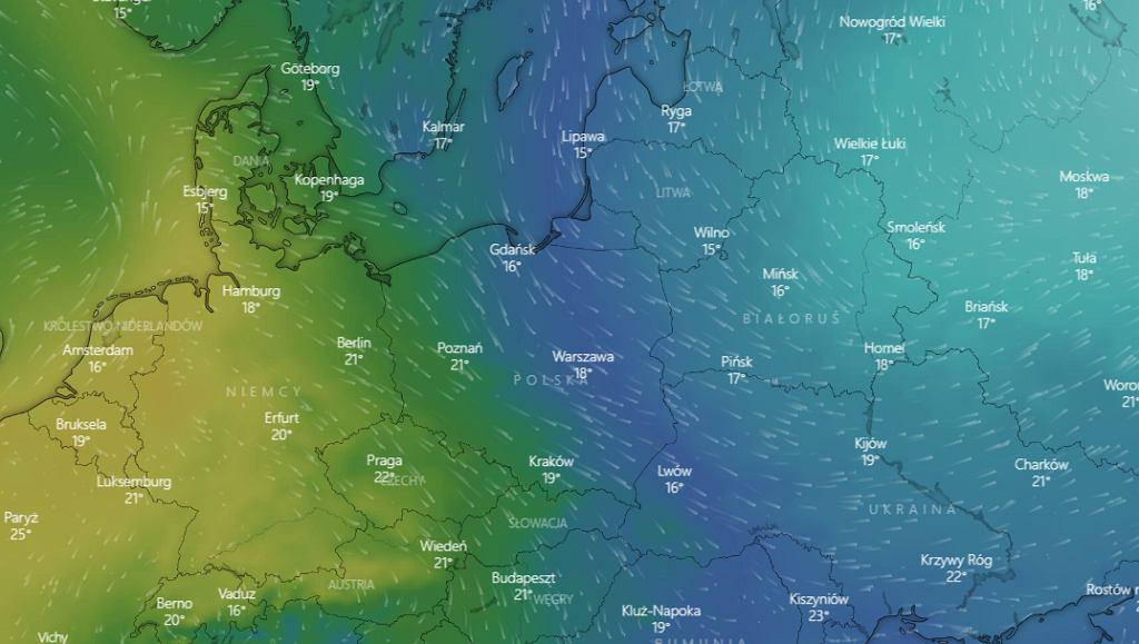 Niż Pirmin znad północno-zachodniej Rosji