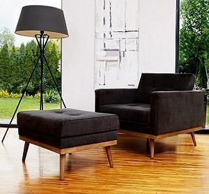 Te fotel łączy w sobie nowoczesność i ponadczasową klasykę