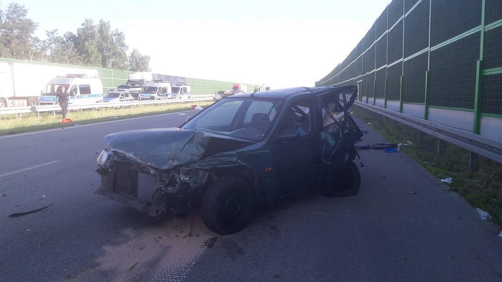 Tragiczny wypadek na A1 w Łodzi. Nie żyje 50-latek