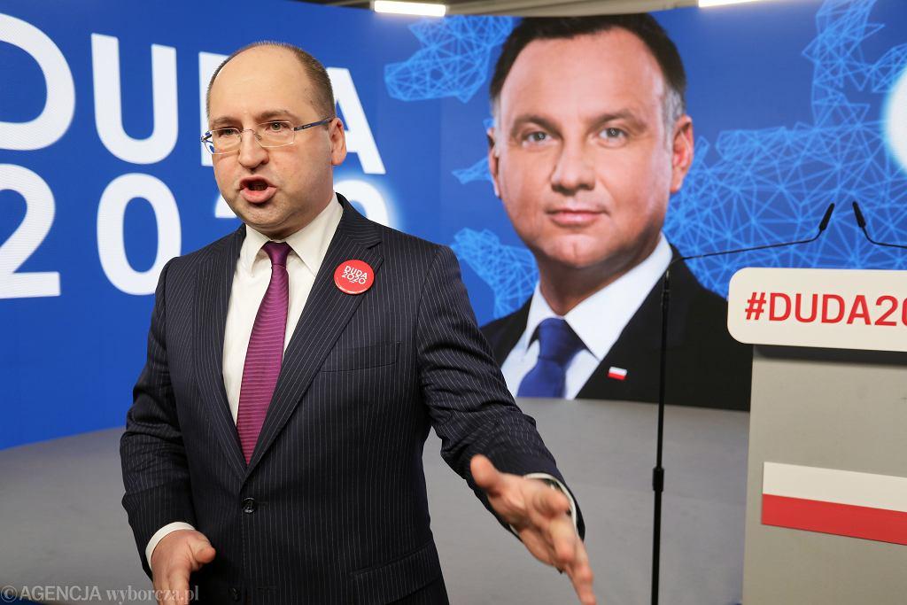 Rzecznik sztabu wyboczego prezydenta Andrzeja Dudy Adam Bielan