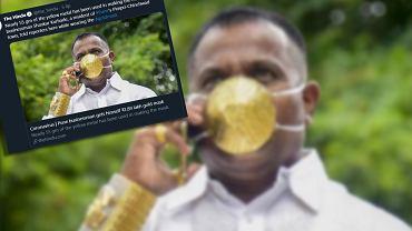 Shankar Kurhade z złotej maseczce