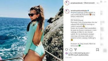 Anna Lewandowska pokazała płaski brzuch