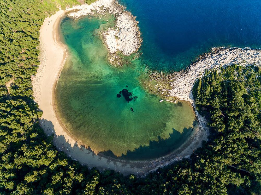 Saplunara na wyspie Mljet to najbardziej idylliczne i odludne miejsce w Chorwacji