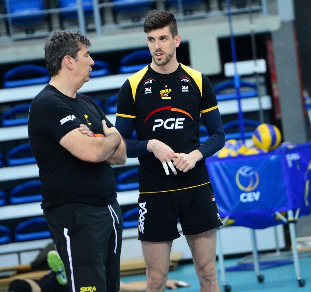 Trener PGE Skry pod kierunkiem Philippe Blaina