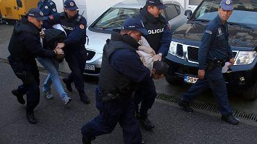 Czarnogórska policja aresztuje podejrzanych o przygotowywanie zamachu stanu, 16 października 2016