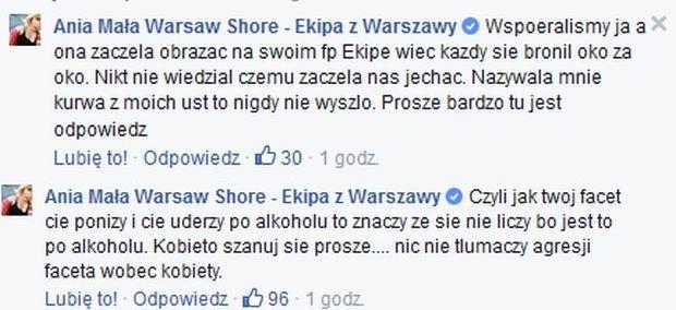 Komentarze Ani Małej Warsaw Shore