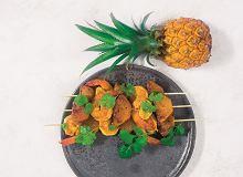 Szaszłyki krewetkowo-ananasowe z curry - ugotuj
