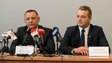 Ogłoszenie utworzenia siedziby Krajowej Administracji Skarbowej w Bydgoszczy. Marian Banaś i Mikołaj Bogdanowicz