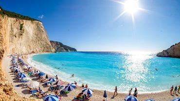 Plaża Porto Katsiki na wyspie Lefkada, Grecja